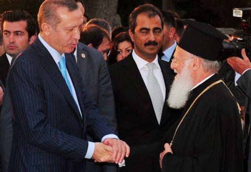 Με τον Ερντογάν θα συναντηθεί το απόγευμα ο Οικουμενικός Πατριάρχης