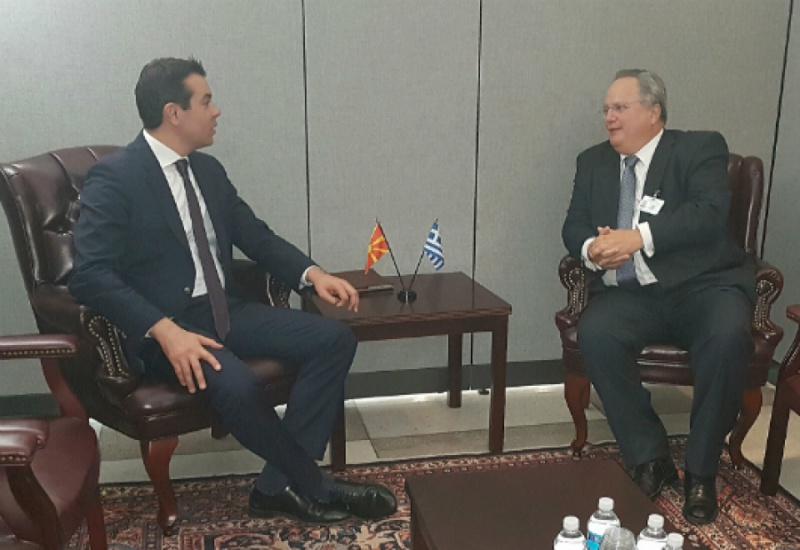 Συνάντηση Υπουργού Εξωτερικών, Ν. Κοτζιά, με τον Υπουργό Εξωτερικών της πΓΔΜ, Ν. Poposki